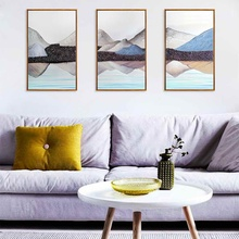 HAOCHU  Landscape Dream Canvas Painting  Living Room Home Decor Painting Print Poster Simple Nordic Wall Picture haochu nordic landscape canvas art print painting poster modern fresh hazy plants character home wall decoration for living room