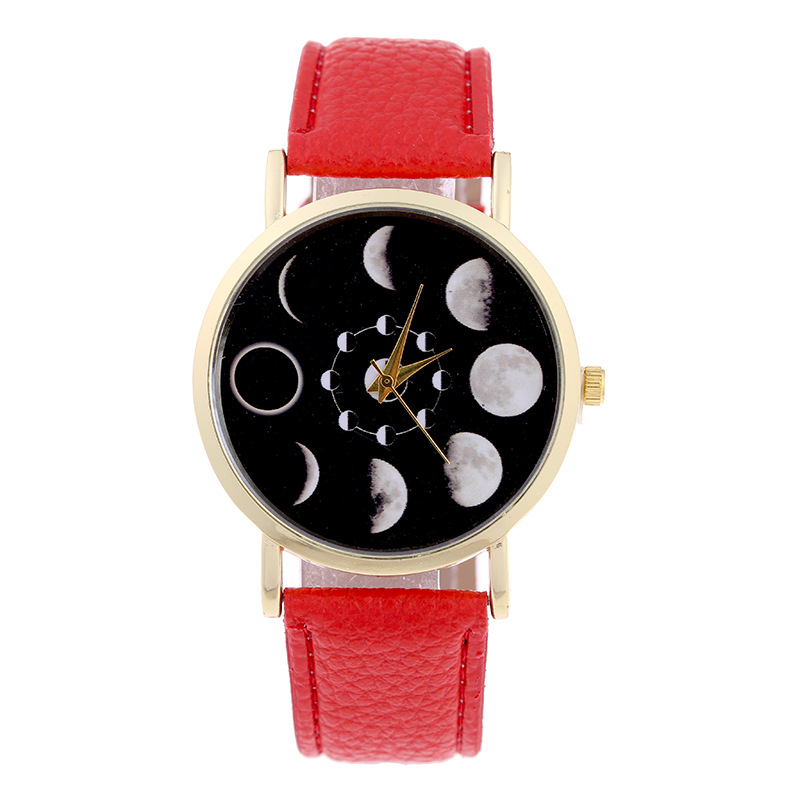 Fashion Solar Eclipse Womens Quartz Wristwatches Leahter Lady Dress Watches Womens Bracelet Watch Relogio Feminino Reloj Mujer