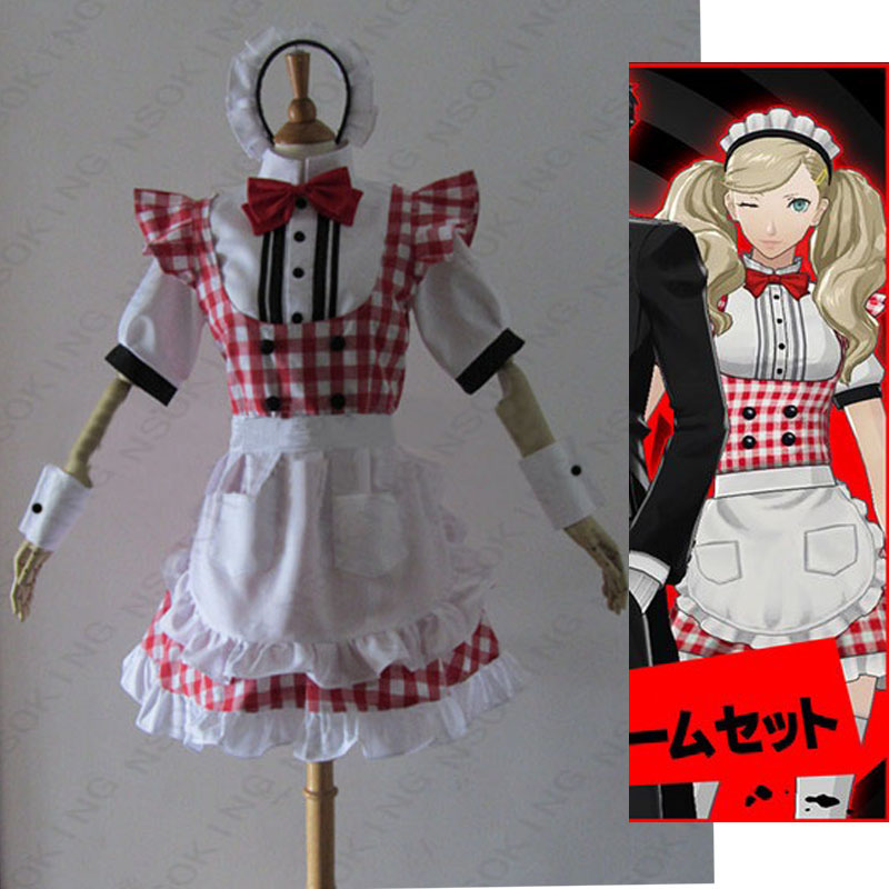 Persona 5 Anne Takamaki maid Cosplay Panther Costume Custom made