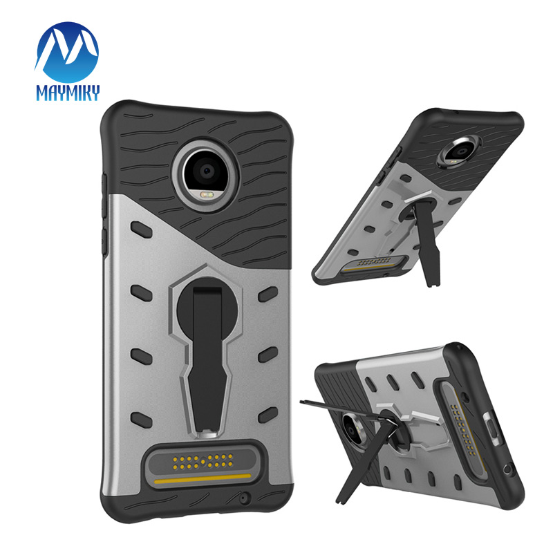 360 Degree Rotation For Moto motorola Z2 Play Case Shockproof Non-slip TPU+PC Armor with Holder Phone For Moto X Play Case