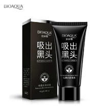 BIOAQUA Suction Black Mask Deep Cleansing Nose Blackhead Remover Facial Mask Black Head Acne Black Mud Face Mask Beauty Skincare suction black equipment cleansing instrument home to facial cleanser special oval head multi functional beauty tool set hot sale