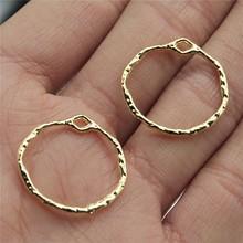 WYSIWYG 10 sztuk Charms geometryczne wysokiej jakości KC stop w kolorze złotym DIY biżuteria do tworzenia kolczyków 22x21mm tanie tanio CN (pochodzenie) Ze stopu cynku Other Metal Archiwalne