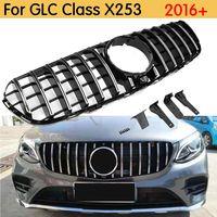 For x253 AMG GT Grille front Racing Mesh Grill for Mercedes 2016+ GLC class GLC200 GLC250 GLC300 Sport glC450 GLC63 grill