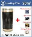 Elektrische Heizung Film 20m2 Länge 40 M Breite 0,5 M Weit Infrarot Boden Heizung Filme Mit Zubehör AC220V, 220 W/m2 Erwärmung Pad