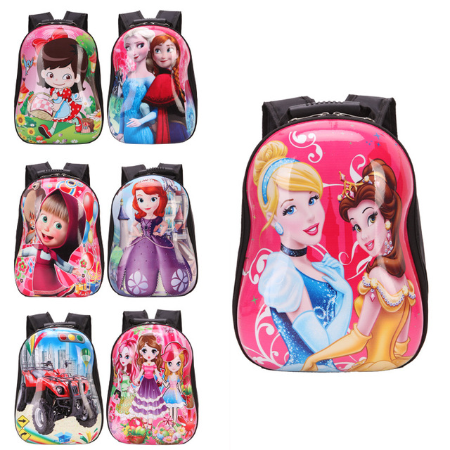 Children school bags 3D eggshell cartoon animal kids character ...