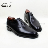 cie Round Plain Toe Lace-Up Oxfords Solid Black 100%Genuine Calf Leather Outsole Breathable Men Leather Shoes High Quality OX685