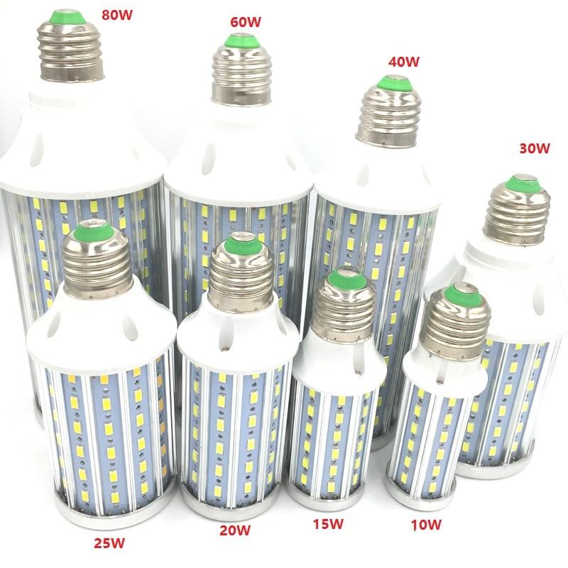 Super bright Led Corn light E27 E14 B22 SMD 5630 85-265V 10W 15W 20W 25W 30W 40W 60W 80W LED bulb 360 degree Lighting Lamp запонка arcadio rossi запонки со смолой 2 b 1026 20 e