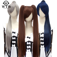 WTB 32 Long Straight Ponytail Claw Drawstring Ponytail Synthetic Heat Resistant Clip In Hair Extensions cosplay
