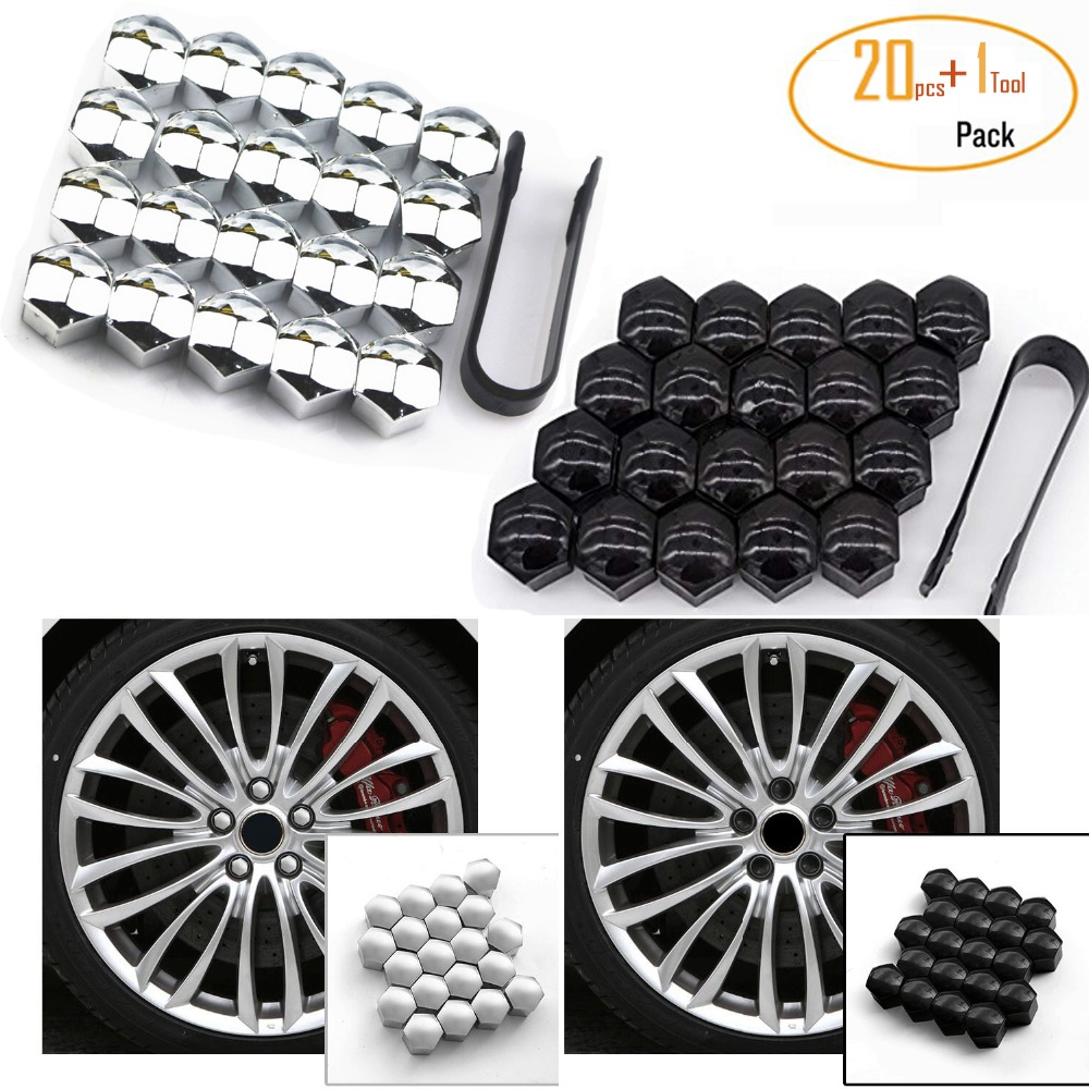 5x WHEEL CAPS screw NUTS hubcap COVER BULLONI RUOTA Tappi Cap 17 mm per VW AUDI