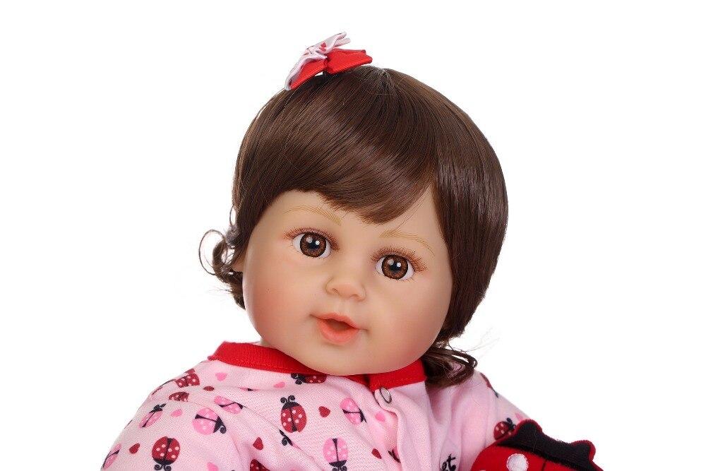 """NPK 22 """"nuovo arrivo del bambino rinato Silicone vinile adorabile Realistico del bambino Del Bambino Bonecas ragazza regali di compleanno giocattoli per i bambini-in Bambole da Giocattoli e hobby su  Gruppo 3"""