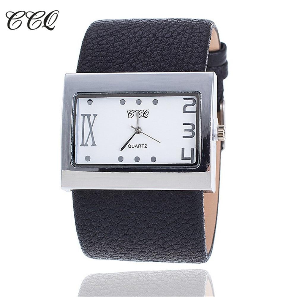 CCQ Brand Fashion Leather Women Dress Watches Ladies Luxury Casual Quartz Watch Wristwatch Girls Clock Relogio Feminino 1859