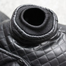 Beautiful, trendy Yorkie leather jacket