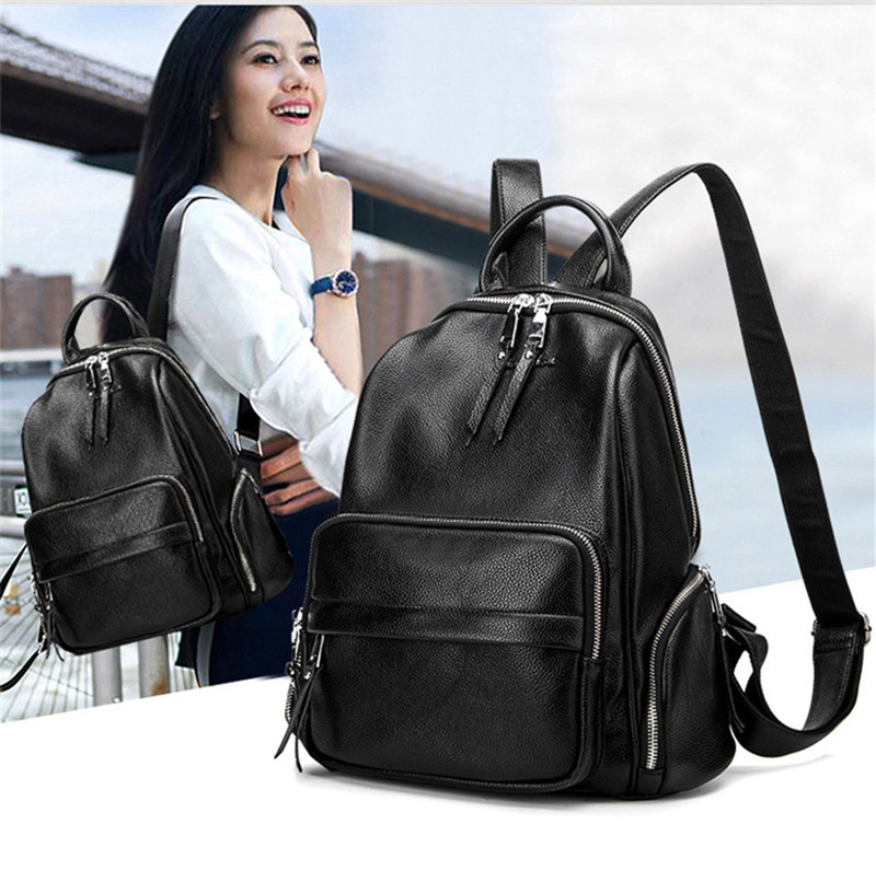100% Genuine leather Women Backpack High Quality Split Leather Backpacks School Bags For Teenagers Girls Fashion Luxury Designer цена 2017