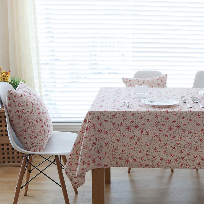 US $8 11 42% OFF|Christmas Snowflake Design Cotton Linen Tablecloth Printed  Table Cover Customization Any Size Table Cloth Manteles De Navidad-in