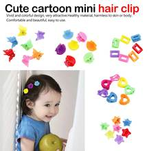 Hair Clip Star Candy Color catch clip Hot Sale Heart 10PCS/Lot Korean Claw Accessories Kids Butterfly Girls