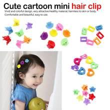 купить Hair Clip Star Candy Color catch clip Hot Sale Heart 10PCS/Lot Korean Hair Claw Hair Accessories Kids Butterfly Girls онлайн