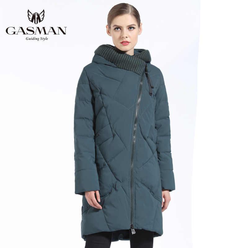 GASMAN 2019 Down Jas Vrouwelijke Vrouwen Parka Medium-Lang met een kap Winter Jas voor Vrouwen Grote Maat 5XL 6XL