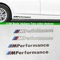 1 conjuntos Acessórios Styling M Desempenho Adesivo Decalque Do Emblema Do Emblema Do Carro Para BMW M3 M5 X1 X3 X5 X6 E36 E39 E46 E30 E60 E92 F30