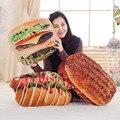 BABIQU 1 шт.  креативная имитация еды  пицца печенье  гамбургерная подушка  Реалистичная плюшевая игрушка  мягкая подушка  детский Забавный пода...