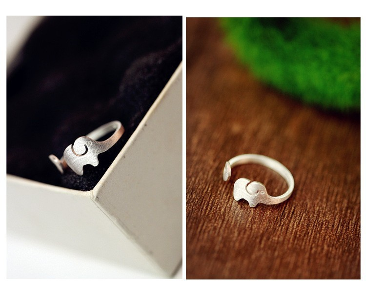 Фирменное креативное кольцо со слоном серебряное покрытие ручной