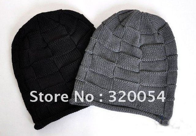 1pcs2012 Korean Grid Men Shag Line Caps Winter Fashion Knitted