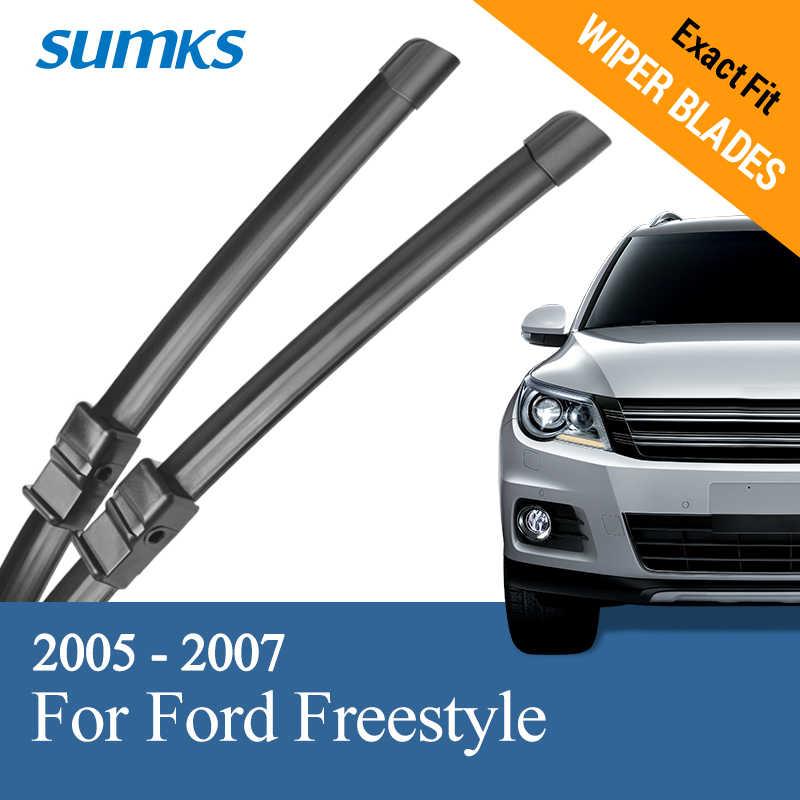 """SUMKS balais d'essuie-glace pour Ford Freestyle 24 """"& 20"""" ajustement bouton poussoir/bras de broche latérale 2005 2006 2007"""