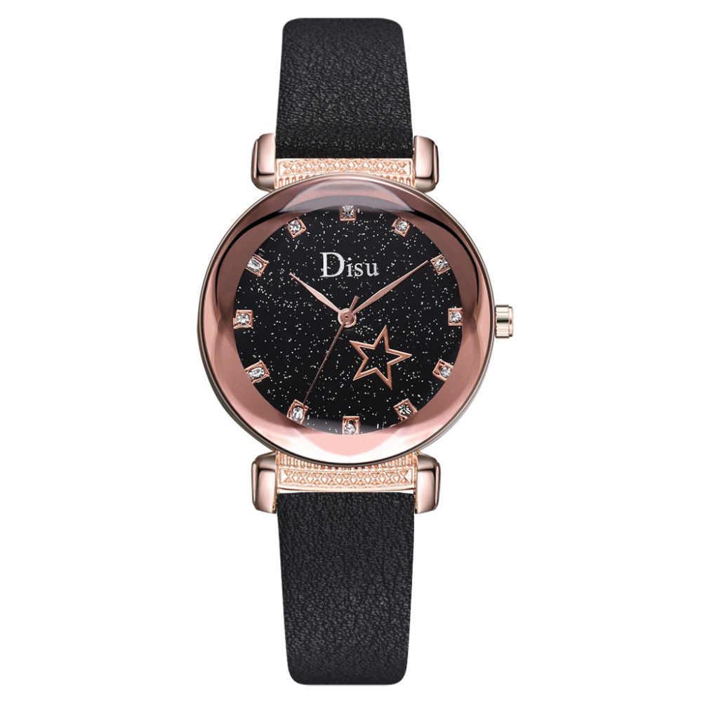 Disu Relojes Diamantes ผู้หญิงนาฬิกา Starry Sky นาฬิกา Galaxy นาฬิกาข้อมือสุภาพสตรีนาฬิกาสีดำนาฬิกา Reloj skmei Dropshipping #