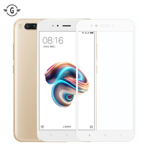 Full Cover Protector MIA1 MI A1 Tempered Glass Screen Protective film For Xiaomi Mi 5X glass gold white