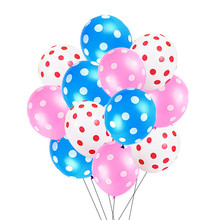 12 Latex Polka Dot Balloons Birthday For Halloween Party 15pcs Wedding Marry Decoration Supplies