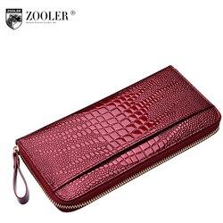Женская сумка из натуральной кожи ZOOLER кошелек женский высокое качество леди маленький кошелек леди деньги сумка роскошный бренд кошелек Го...