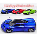 Supercar Cars For Pagani Zonda 1:32 Scale Alloy Diecast Pull Back Music Flashing Model Car Electric Kids Toys Birthday Gifts A