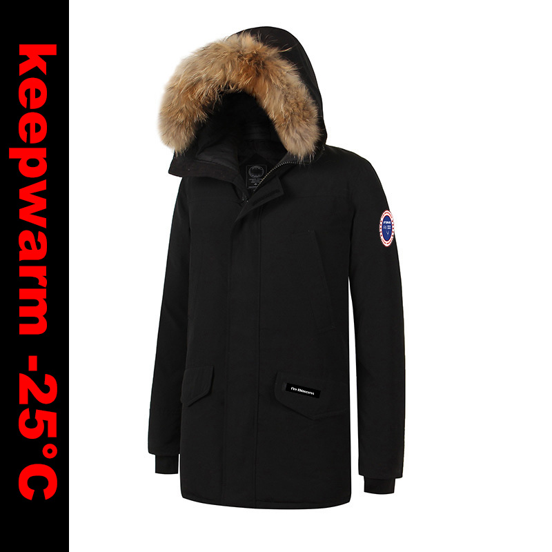 2018 Фирменная Новинка XS-4XL мужские толстые зимние теплые утка подпушка толстый Langford парка тонкая куртка модное пальто