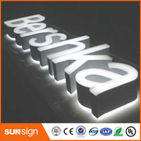 Indoor Outdoor Large Sign Custome Acrylic Frontlit Painted Metal Light Signs