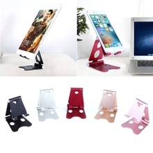 Aluminum Foldable Tablet Holder Adjustable Cell Phone Desk Stand Mount Universal