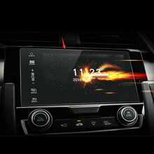 Gehärtetem glas schutz film mit verpackung Auto Gehärtetem Glas Screen Protector Zehn generation für Civic display navigation