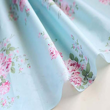 100x160cm Graceful Beddings Quality Blue Big Flower Floral Printed 100% Cotton Fabric Floral Fabric clothes bedding sewing cloth