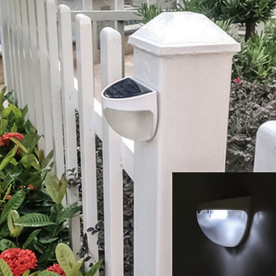 4 Pack PIR Motion Sensor Solar lamp 6 LED Light Solar Powered Waterproof Light Outdoor Garden Security wall Light For Yard Patio in Solar Lamps from Lights Lighting