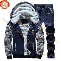 Daiwa velo conjunto de roupas de pesca primavera outono ao ar livre esporte camuflagem caminhadas pesca camisa e calças jaqueta|Roupas de pesca| |  -