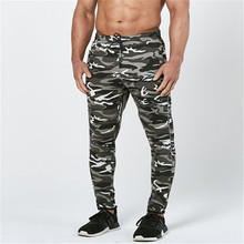 New camouflage sweatpants Men's solid workout bodybuilding clothing casual GYMS fitness sweatpants joggers pants skinny trousers