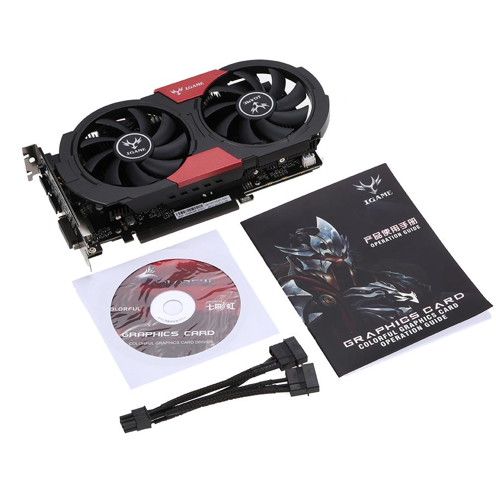 красочные igame 1050ti gpu nvidia geforce gtx 4 гб 128 бит игровой 4096 м gddr5 pci-e x16 3.0 видео видеокарта dp, dvi + hdmi порт