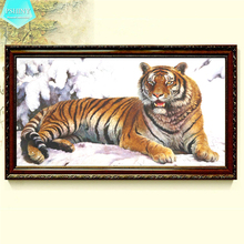 PSHINY 5D DIY Diamond embroidery sale tiger animal pictures complete Round rhinestones Painting new arrivals needlework