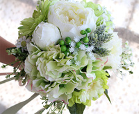 High quality Wedding Bouquet Handmade Artificial Flower Rose Wedding Bridal Bouquet for Wedding Decoration