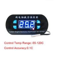 DC 12V Digital Thermostat Temperature Alarm Controller Sensor Meter Blue LED