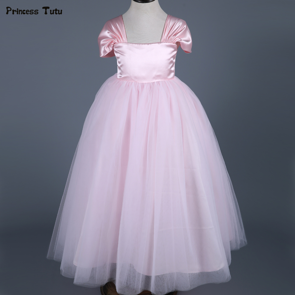 Pink Princess Dress Girls Formal Pageant Party Dresses Ankle-Length Kids Wedding Flower Girl Dress Ball Gown High-end Custom top quality new year girls dresses pageant princess flower dress for girl kids clothing formal wedding party gown page 8