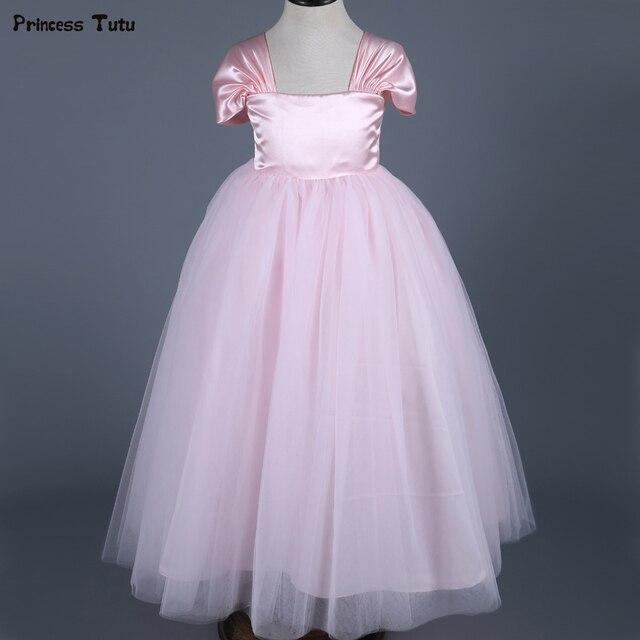 Aliexpress buy pink princess dress girls formal pageant party pink princess dress girls formal pageant party dresses ankle length kids wedding flower girl dress mightylinksfo