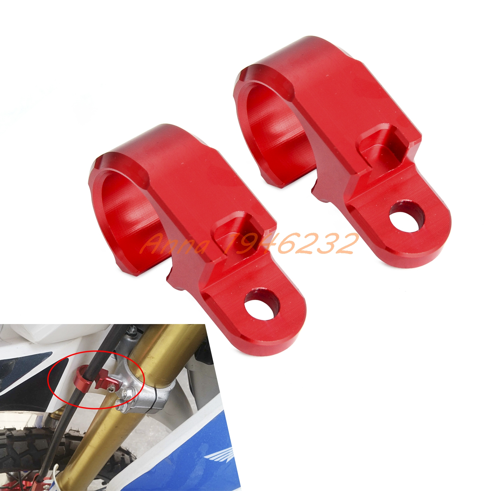 CNC Front Brake Line Hose Clamp Holder For Honda CRF250L CRF250M 2012 2013 2014 2015 cnc front brake line hose clamps holder for suzuki rm85 rm125 rm250 rmz250 rmz450 rmx450z drz400sm motorcycle
