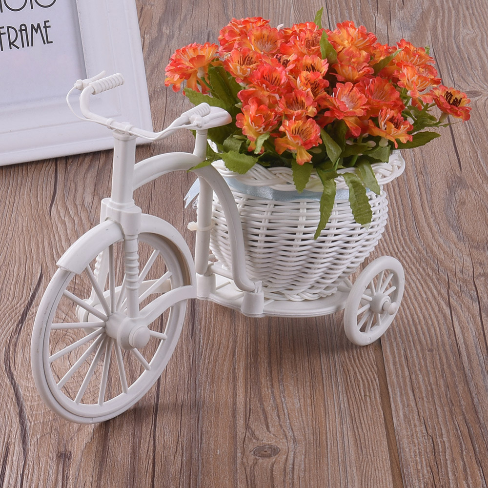 761be8c11b New Creative Artificial Silk Daisy Chrysanthem With Tricycle Vase Flowerpot  Bouquet Home Wedding Party Home Decoration 5 Colors