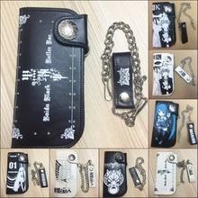 Black Butler Hatsune Miku SOUL EATER Geldbörsen ID Kartenhalter Bifold münze Taschen Lange PU geldbörse metallkette handtasche 15 stil