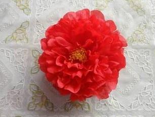 Искусственный Ткань 12 Слои 16 см большой пион роза цветок камелии головка для ювелирных изделий DIY Свадьба Рождество - Цвет: red