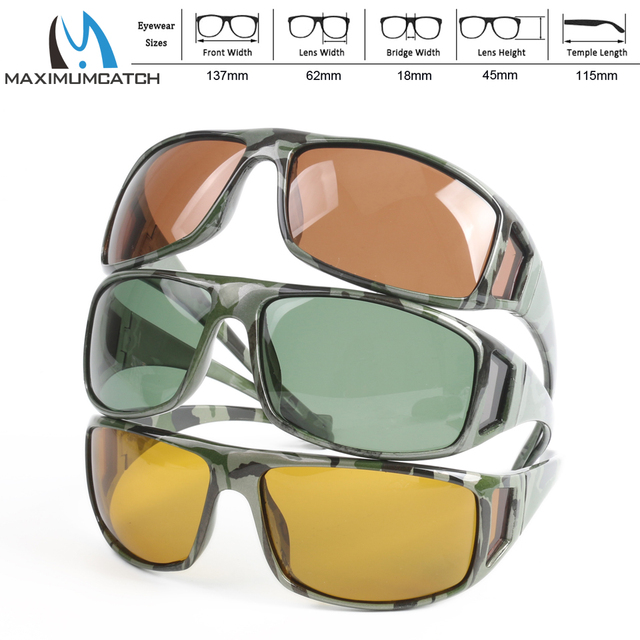 711c0b78d3d Maximumcatch Camouflage Frame Fly Fishing Polarized Sunglasses Gray Yellow  And Brown To Choose Fishing Sunglasses